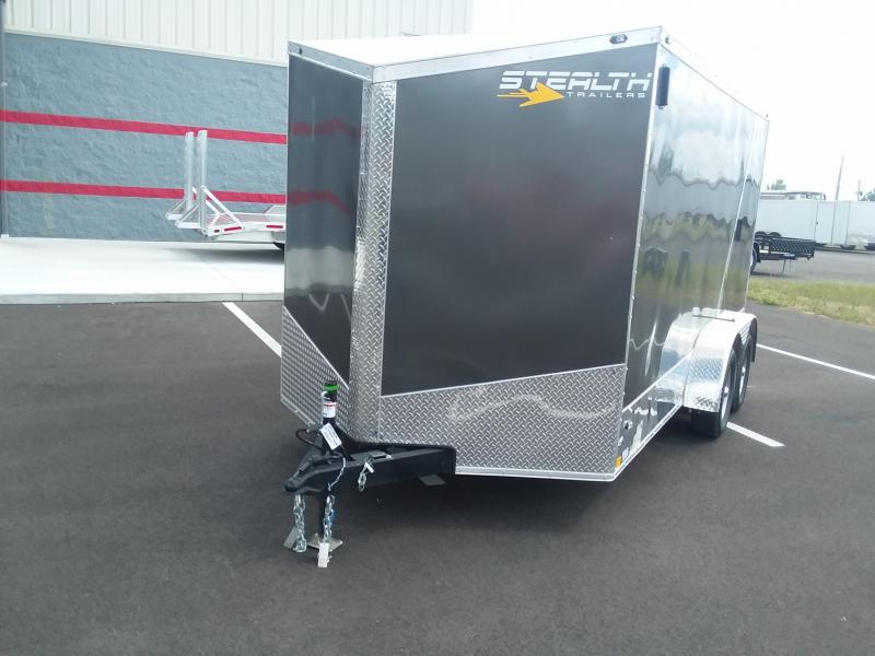 """2019 Stealth 7'x14'+6"""" Charcoal Motorcycle 7k"""