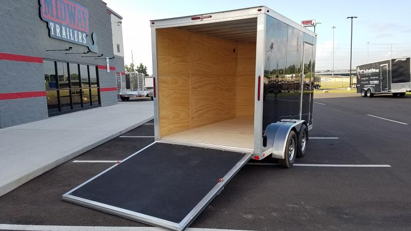 "2019 One Trailers 7'x12' Black 7k +6"" Hgt"