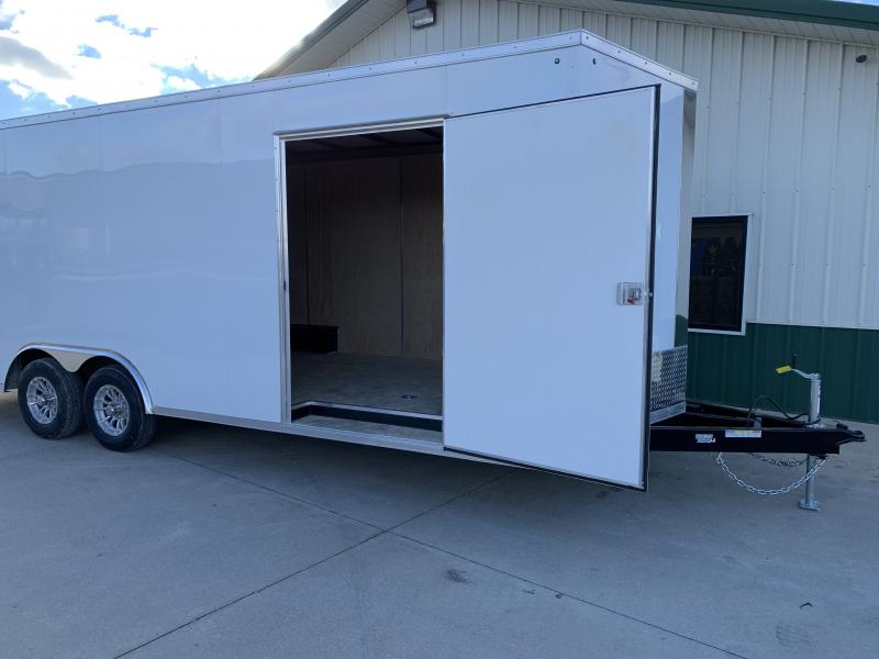 """2019 Sure-trac 8.5x24 Psw Ch 10k White +6"""" Extra Height"""
