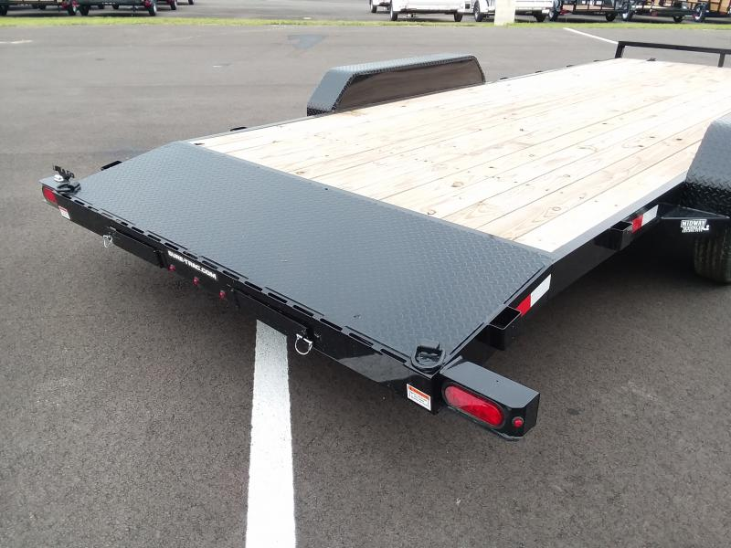 2018 Sure-trac 7'x20' Wood Deck 10k
