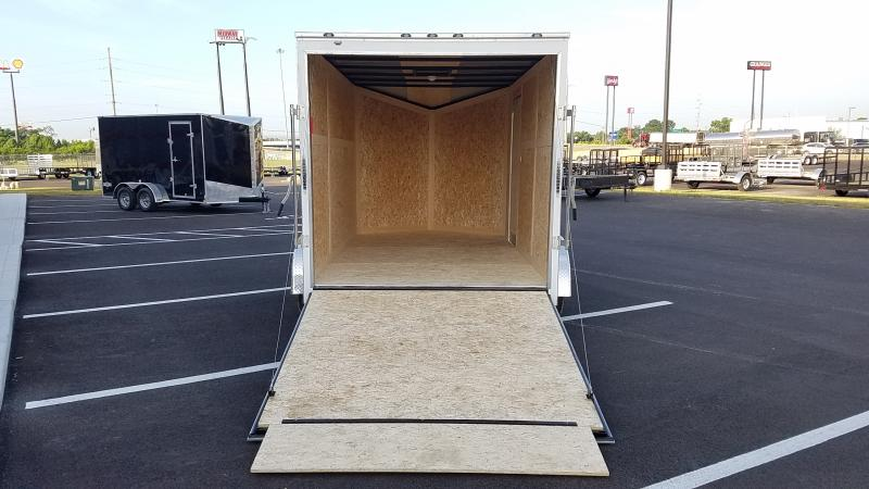 2019 Stealth 7' X 12' Enclosed White