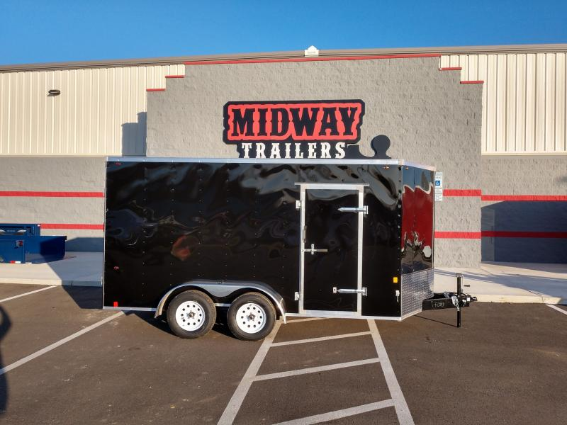 2019 Interstate 7' X 14' Enclosed Black