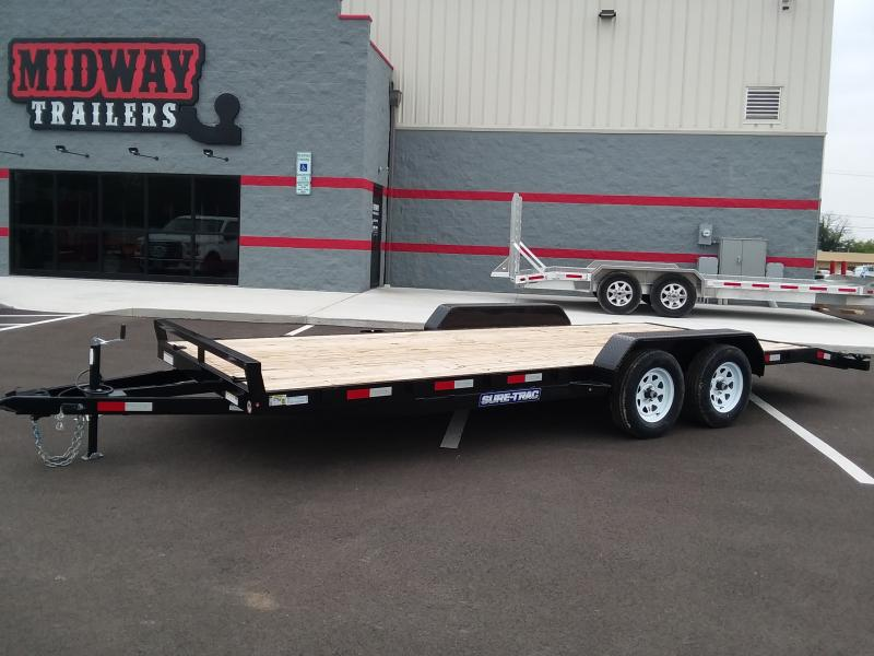 2018 Sure-trac 7'x20' Wood Deck 7k