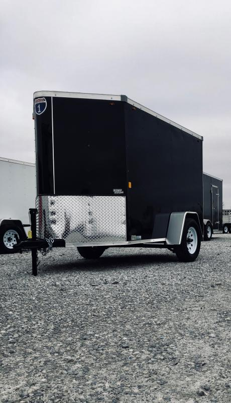 2019 Interstate 5x 8 Black Enclosed