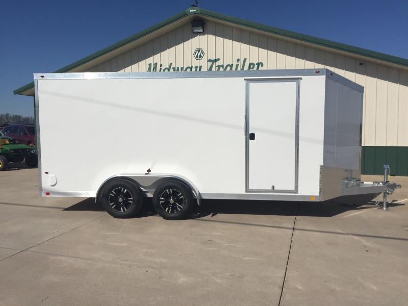 2018 One Trailers 7x16 White One Enclosed