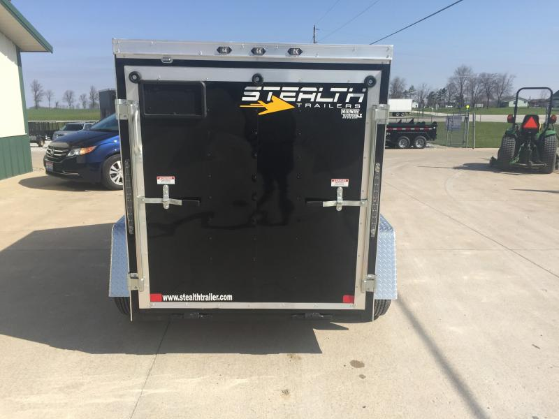2019 Stealth 6 X 12 Black Enclosed 3k