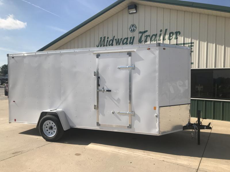 2019 Interstate 6 X 14 White Enclosed