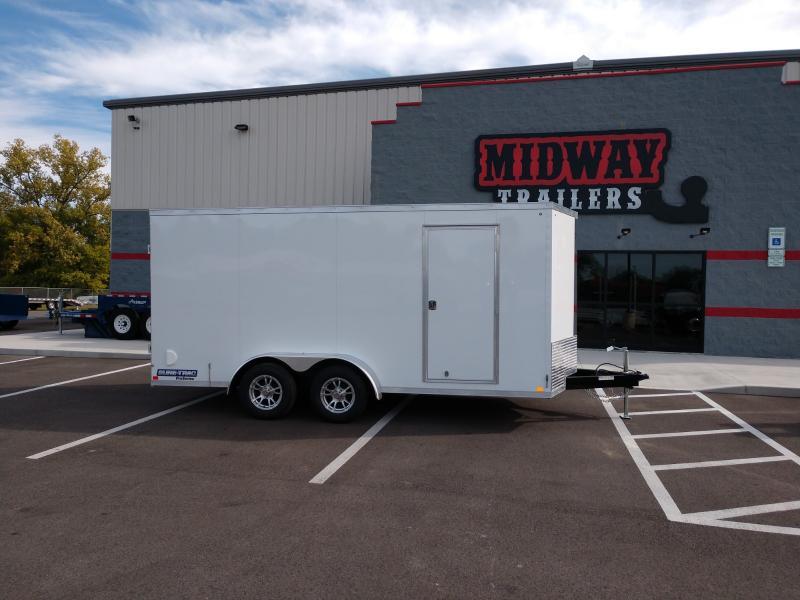 2019 Sure-trac 7'x16' White 7k Barn Doors