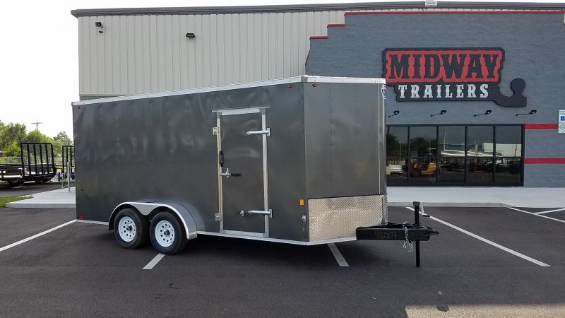 2019 Interstate 7x16 Charcoal Enclosed 7k