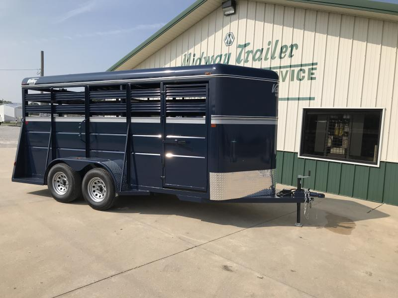 2019 Valley 6x16 Livestock 7k Blue