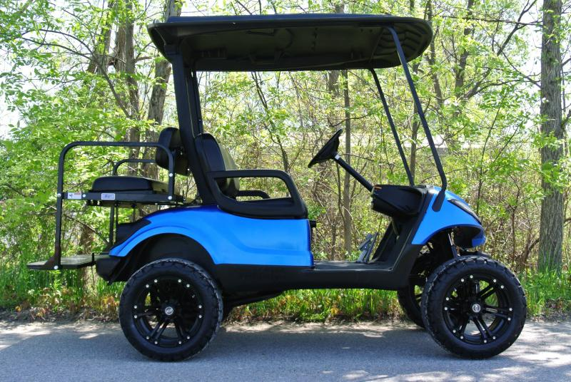 2013 Custom Yamaha Drive Gas Golf Cart Metallic Blue #1231