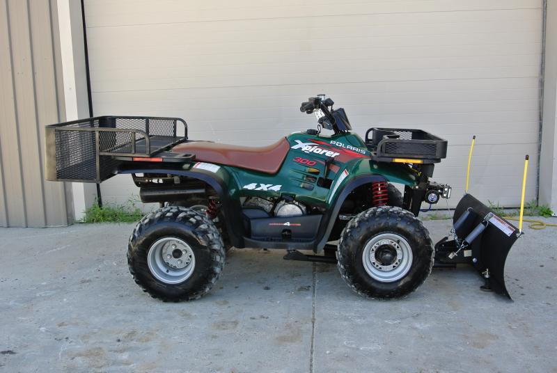 1998 Polaris Xplorer 300cc 4X4 ATV with Full Snowplow Package #0172