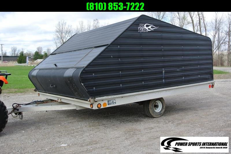 1999 ENCLOSED S&S 10' x 8' ALUMINUM SNOWMOBILE TRAILER #7555