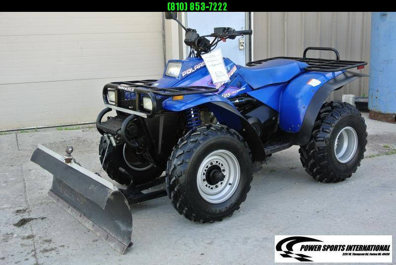 1995 POLARIS 425 Magnum 4X4 ATV with Snowplow Package and Winch