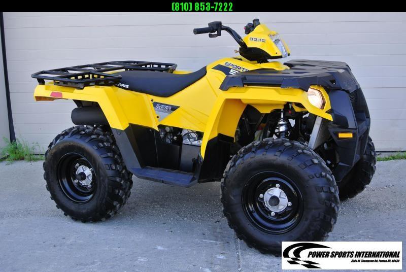 2016 POLARIS SPORTSMAN 570 EFI YELLOW 4X4 ATV #6863