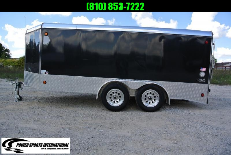 2008 R&R Trailers Enclosed Aluminum Motorcycle Cargo Trailer #4681
