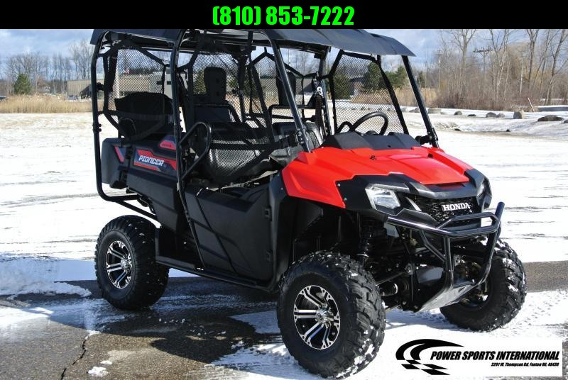 2017 HONDA SXS700M4H PIONEER 4-Seater RED Side By Side Red #1004