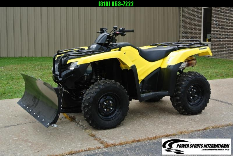 2018 HONDA TRX420FA6 FOURTRAX RANCHER 4X4 with SNOWPLOW #1868