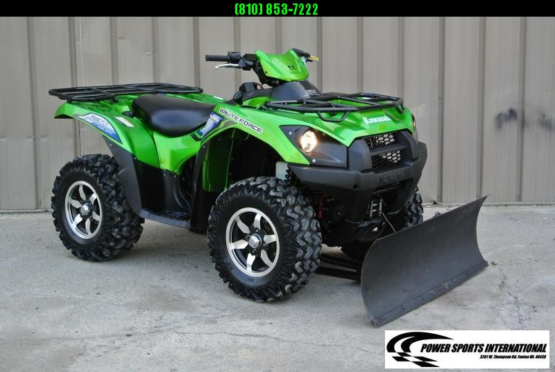 2014 KAWASAKI KVF750HGF BRUTEFORCE 4X4 ATV with SNOWPLOW #3793
