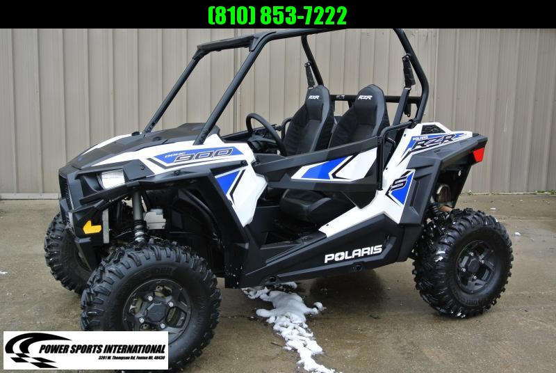 2018 POLARIS RZR S 900 White Lightning Sport Side-by-Side #7800