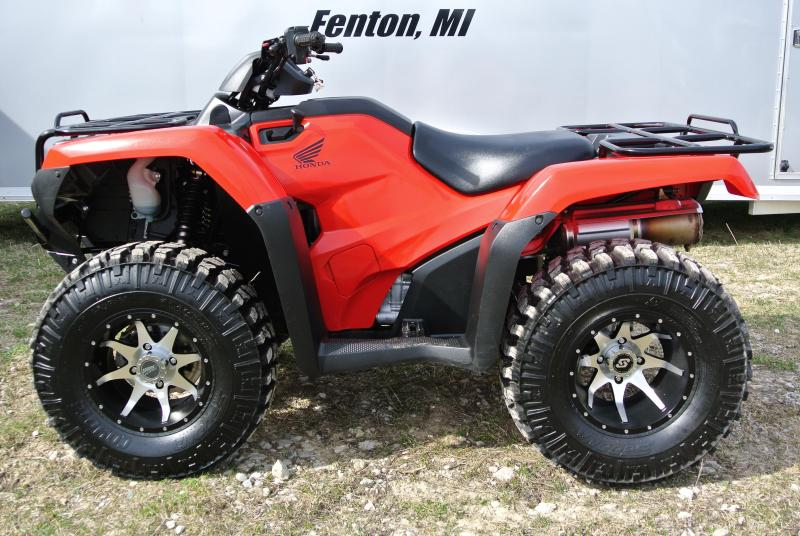 2017 HONDA TRX420FE1H FOURTRAX RANCHER (4X4 ELECTRIC SHIFT) RED w/ EXTRAS #1873
