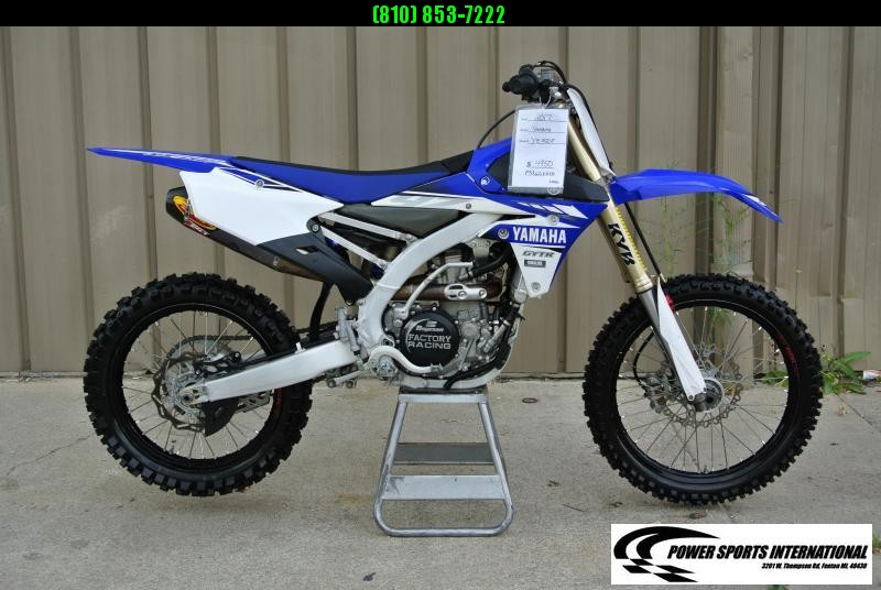 2017 YAMAHA YZ450F BLUE MX Motocross Bike #8436
