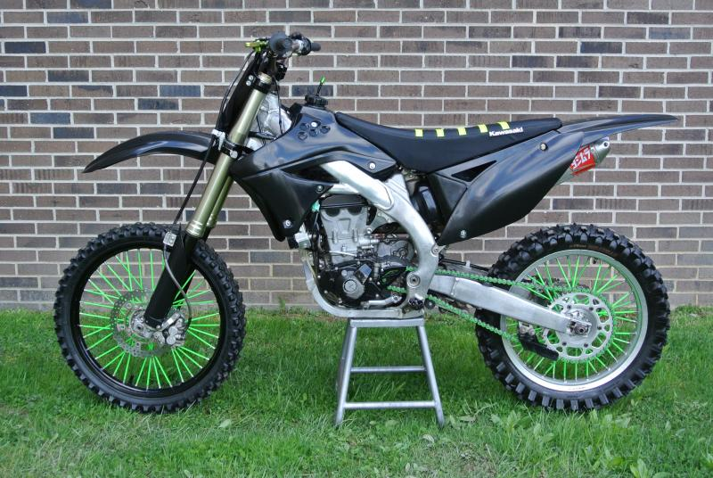 2009 Kawasaki KX450F Motorcycle MX Dirt Bike #0418