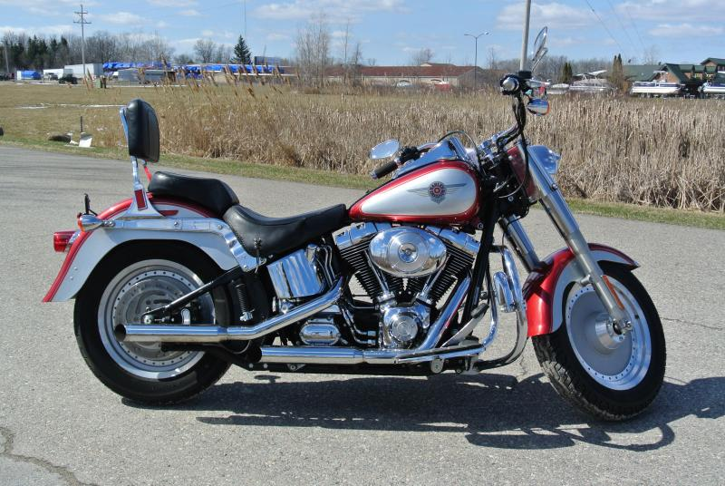 2004 HARLEY-DAVIDSON FLSTF FAT BOY RED SILVER Motorcycle 8620