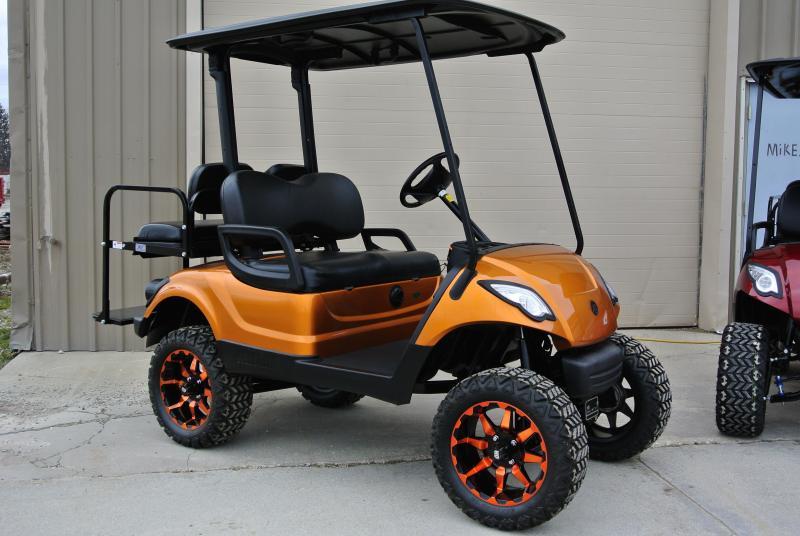 2014 Custom Yamaha Drive 48v Electric Golf Cart Orange #2194