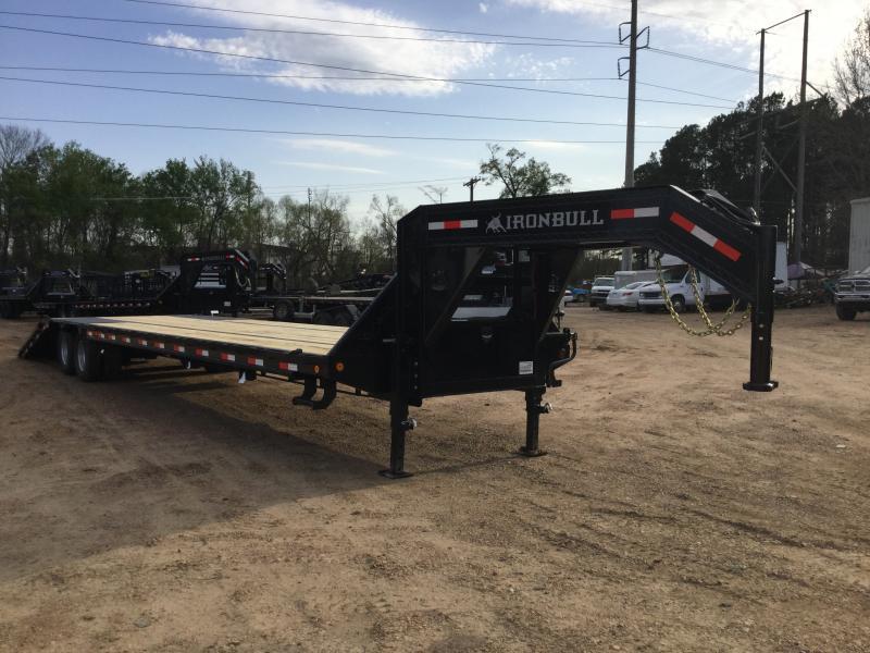 "2018 Iron Bull 102"" x 40' Low Pro Equipment Flatbed 24K GVWR"