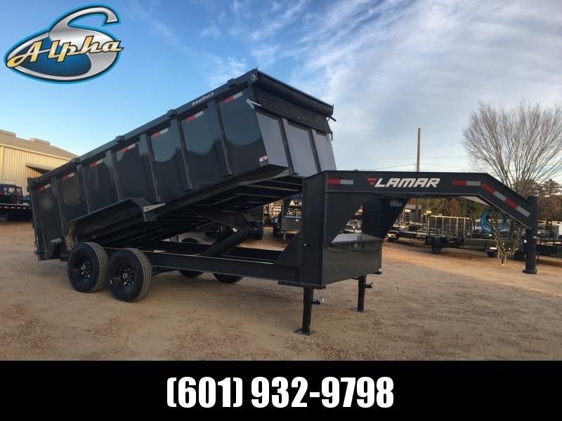 Used 2019 Lamar Trailers 16.5 Yard 7 x 16 Gooseneck Dump 14K GVWR