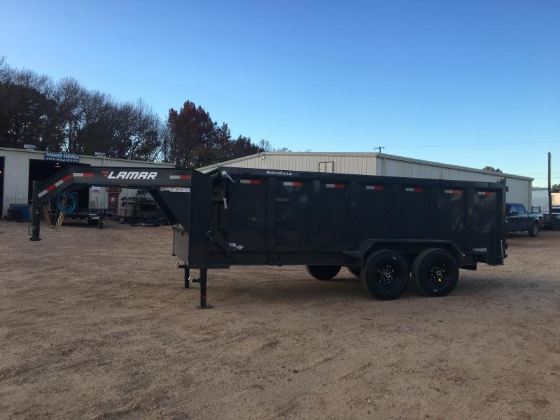 2019 Lamar Trailers 16.5 Yard 7 x 16 Gooseneck Dump 14K GVWR
