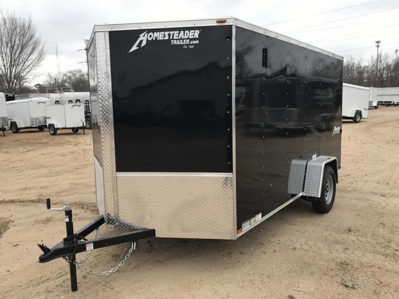 New 2019 7 x 12 Single Enclosed Cargo Trailer 3K GVWR