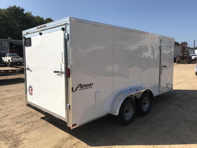 New 7 x 16 Tandem Axle Enclosed Cargo Trailer