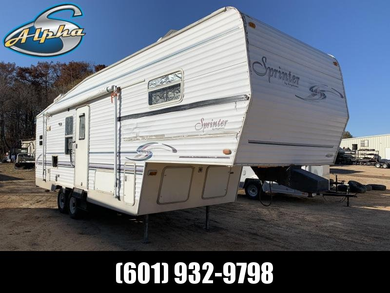 2000 Keystone Sprinter RV 30' Fifth Wheel Travel Trailer