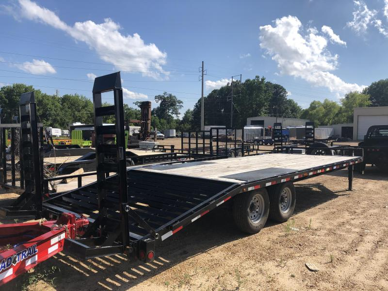 "2018 USED 102"" x 24' DECKOVER Equipment Trailer 14k GVWR"