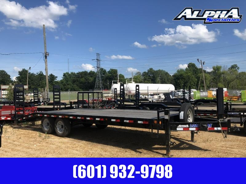 "2018 USED 102"" x 24' DECKOVER Equipment Trailer 14k GVWR in Fountain Hill, AR"