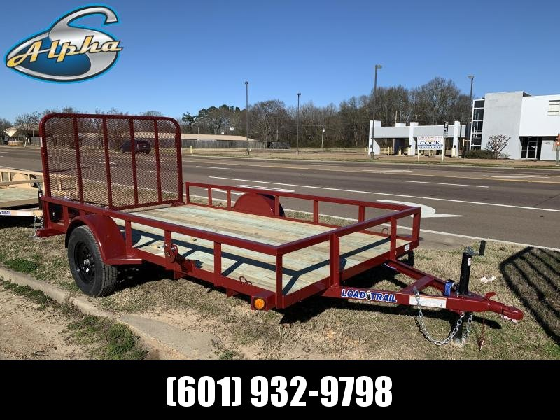 2019 Load Trail 6.5' x 12' MS STATE MAROON Utility Trailer