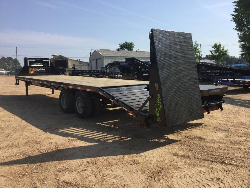 2018 Load Trail 102 x 32 Gooseneck Flatbed Trailer w/ MAX Ramps 22K GVWR