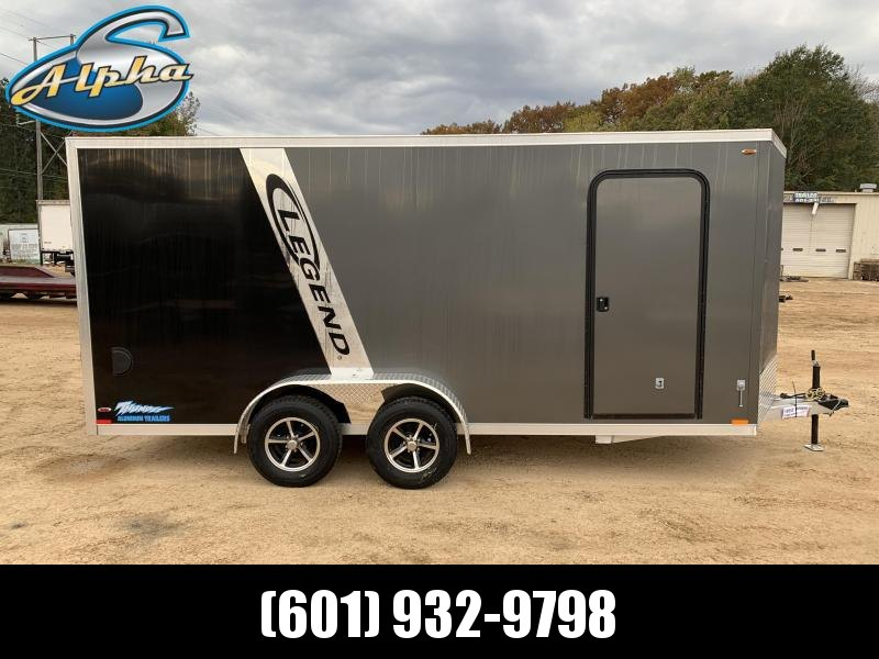 2019 Legend Aluminum 7 x 18 Tandem Axle Enclosed Trailer 7K GVWR