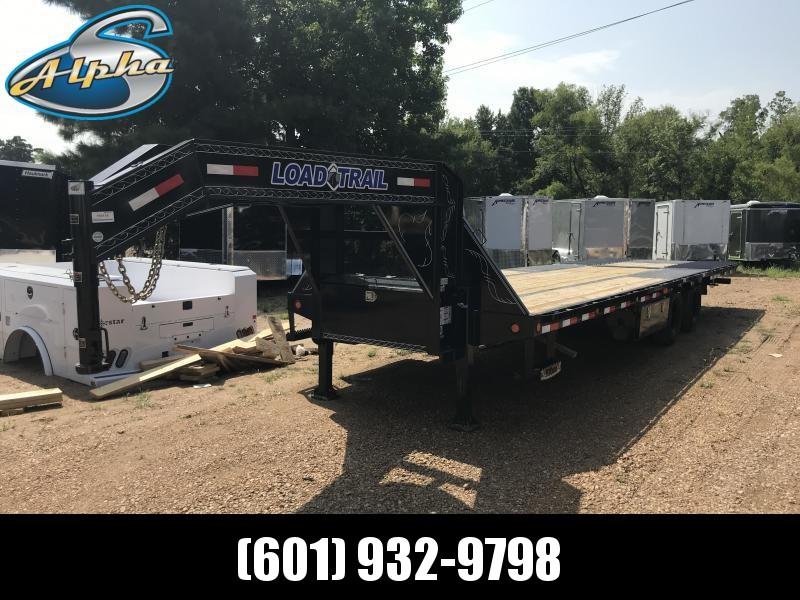 "2018 Load Trail 102"" x 30' Low-Pro Gooseneck w/ Hyd. Dove and Jacks 24k GVWR"