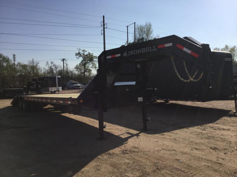 "2018 Ironbull 102"" x 40' Low Pro Flatbed Equipment Hauler 24K GVWR"