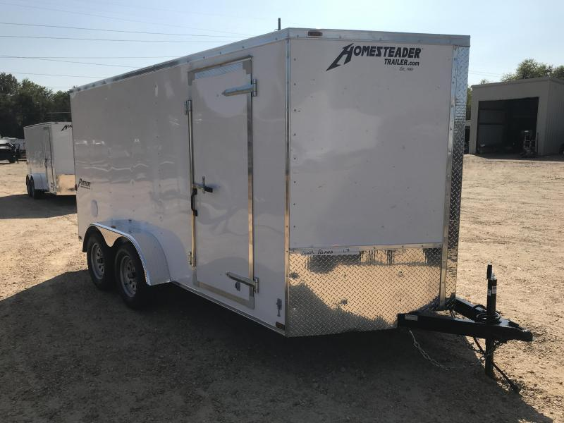 New 2019 7 x 14 Tandem Axle Enclosed Cargo Trailer 7K GVWR