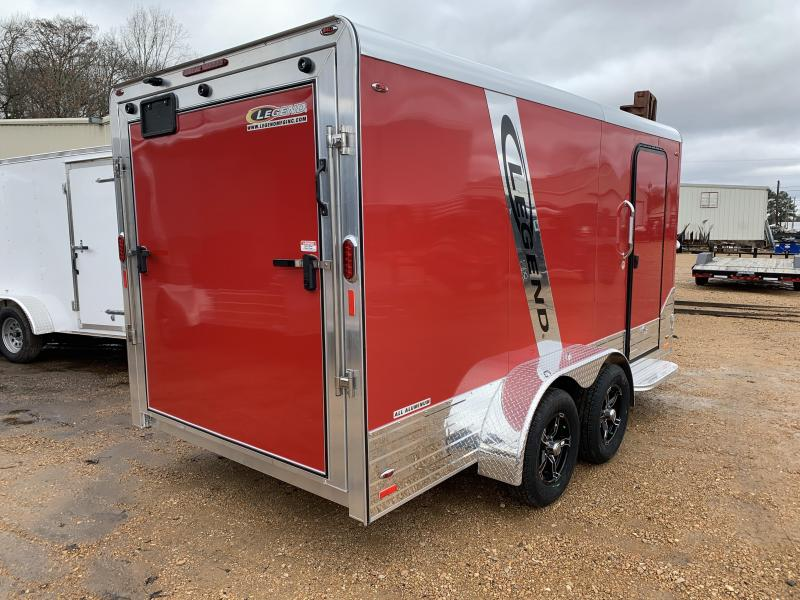 2019 Legend Aluminum 7 x 17 Deluxe  Enclosed Cargo Trailer 7K GVWR