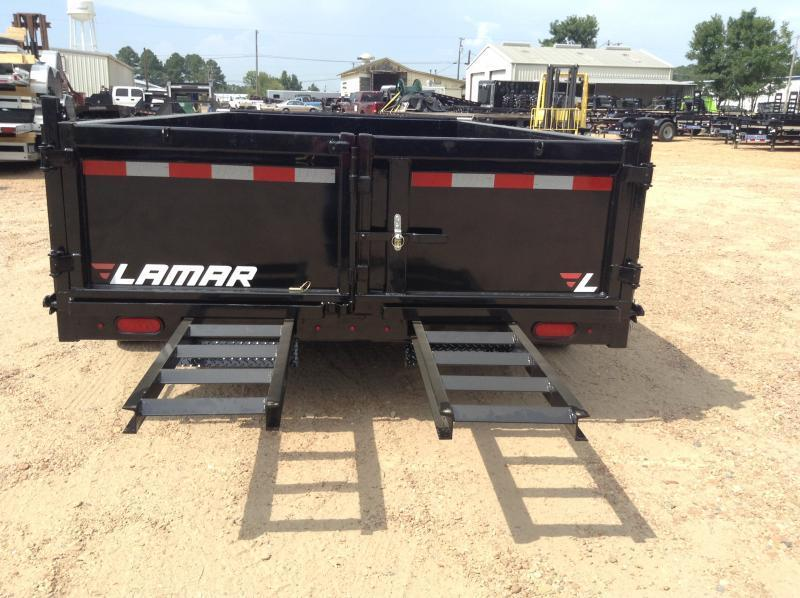 "2018 Lamar Trailers 83"" x 14' Low-Pro Dump 14k GVWR"