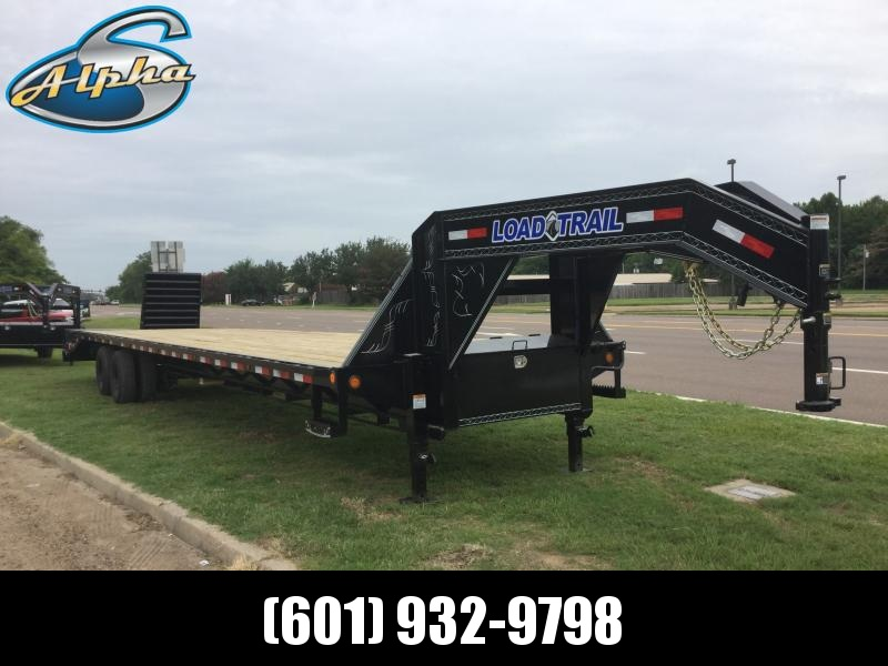 2019 Load Trail 102 x 40 Gooseneck Air Ride Flatbed Trailer 24K GVWR