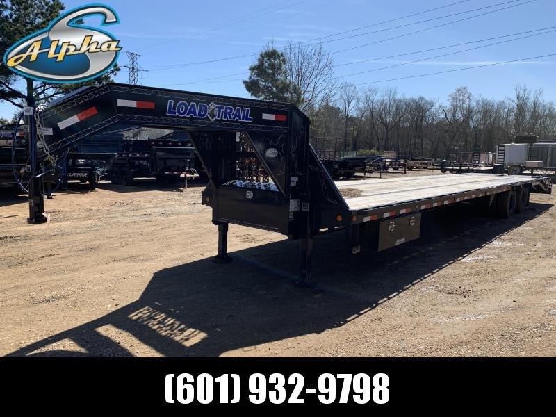 Used 2019 Load Trail 102 x 40 Gooseneck HOTSHOT Flatbed Trailer 24K GVWR