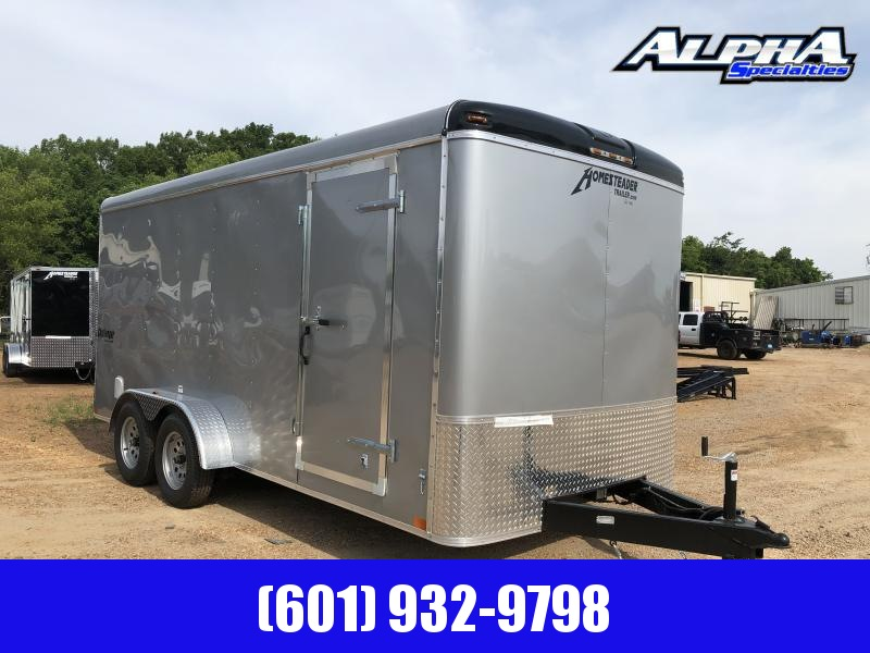 New 2019 7 x 16 Tandem Axle Enclosed Cargo Trailer 7K GVWR in MS
