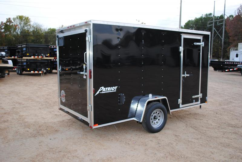 New 2019 6 x 12 Single Axle Enclosed Cargo Trailer