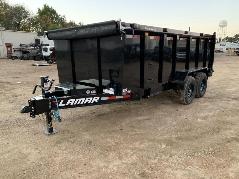 "2019 Lamar Trailers 83"" x 16' Low-Pro Dump 14k GVWR"